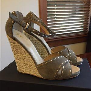Giuseppe Zanotti Koka Velour Jasmin wedge sandals